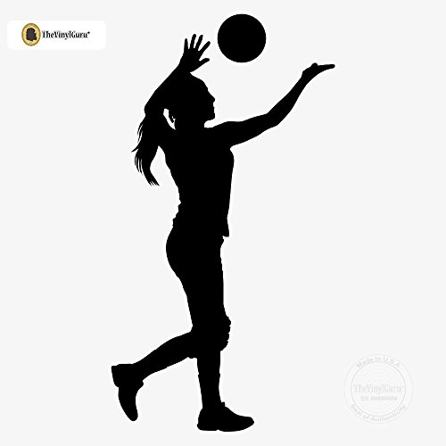 TheVinylGuru - Volleyball Wall Sticker Decal - Size: 12 in. (6.4