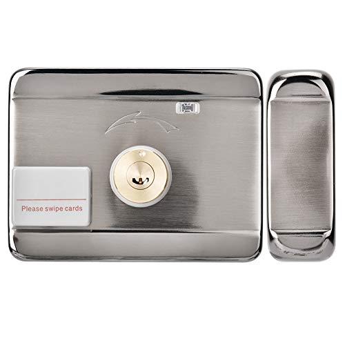 XINL Cerradura de Puerta con Control Remoto, con Alarma de Puerta Anti-Golpes Cerradura de Puerta Inteligente, Tarjeta de identificación Sistema de Acceso Inteligente Digital para hogares,