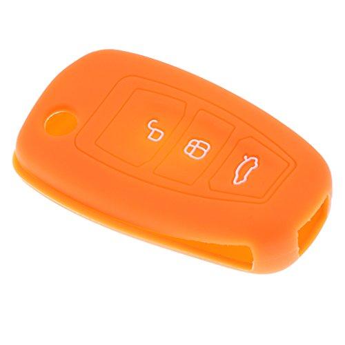 Almencla Mini 3 Button Autoschlüssel Hülle Case Cover Für Ford Mondeo Focus Praktisch - Orange