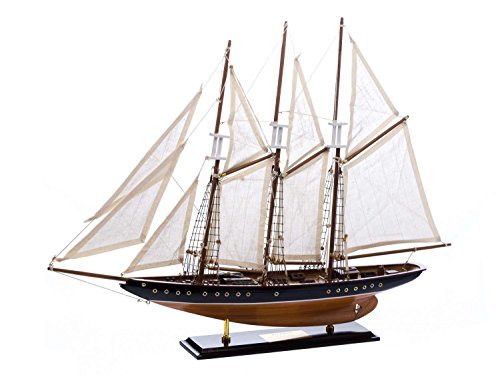 Modellschiff Atlantic Segelschiff Segelyacht Yacht Schiff 71cm kein Bausatz
