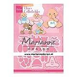 Marianne Design COL1479 Eline's Babies Collectables, Baby, für Detaillierte Stanzformen und Prägedetails im Papierhandwerk, metall, Rosa, S