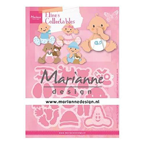 Marianne Design Collectables Fustelle, Bambini, Estate Indiana, per Taglio e Goffratura di Disegni Comples, metallo, rosa, small