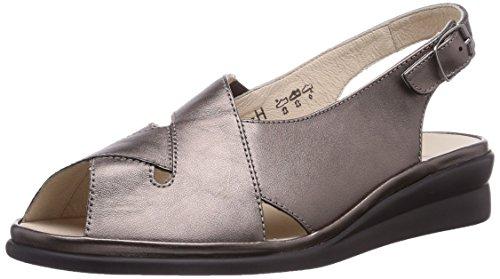 Semler Anja Damen Knöchelriemchen Sandalen mit Keilabsatz, Braun (052 - bronce), 38 2/3