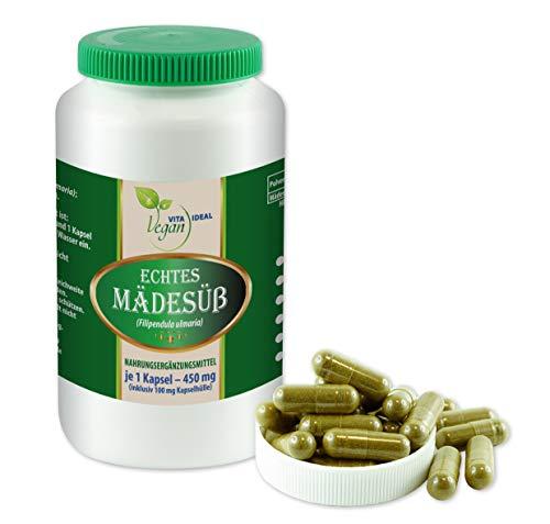 Vitaideal Vegan - Comida femenina (dulce real, filipendula ulmaria, cápsulas de medesdulza), 180 cápsulas vegetales cada una de 450 mg, puramente natural, sin aditivos.