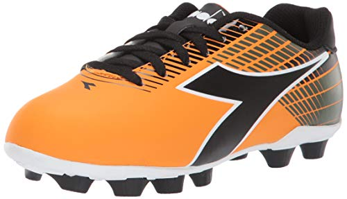 Diadora Unisex-Kinder Ladro Md Jr, Fußball (Kleinkind/kleines großes, orange/schwarz, 34 EU