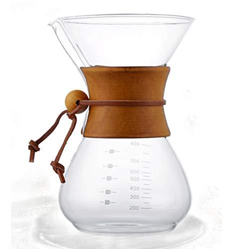 Versez dans La Cafetière Cafetière Poignée Ronde en Bois, Partagez La Pot, Machine À Café Laver À La Main American Coffee Maker800ml