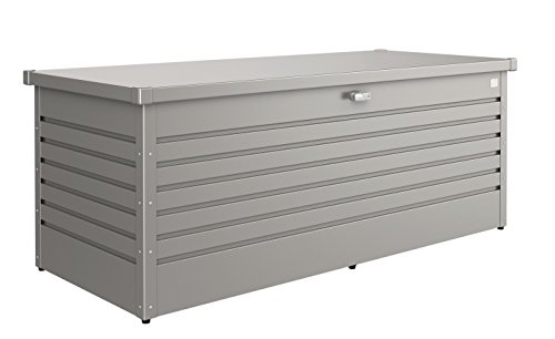Biohort 180 Freizeit Container Box, Metallic Quarz grau, 181 x 79 x 71 cm
