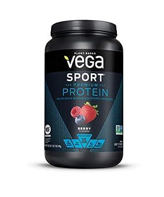 Vega Sport Premium Protein, Plant-Based Vegan Protein Powder, BCAAs, Amino Acid, Tart Cherry, Non Whey, Keto-Friendly, Gluten Free, Non GMO (Packaging May Vary)
