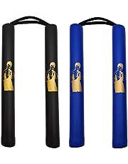Fayscingo 2 Pack Nunchakus de Espuma Cordón de Práctica Acolchado de Seguridad Nunchakus Artes Marciales Nunchucks para Niños y Principiantes