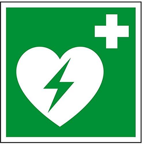 LEMAX® Rettungszeichen Automatisierter externer Defibrillator,ASR/ISO,Folie,50x50mm