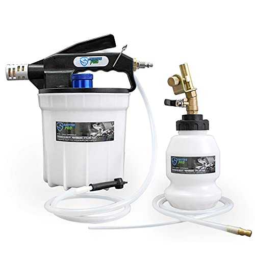 SMOTIVEPRO Pneumatic Brake Bleeding Kit, 2L Brake Fluid Bleeder kit with 1L...