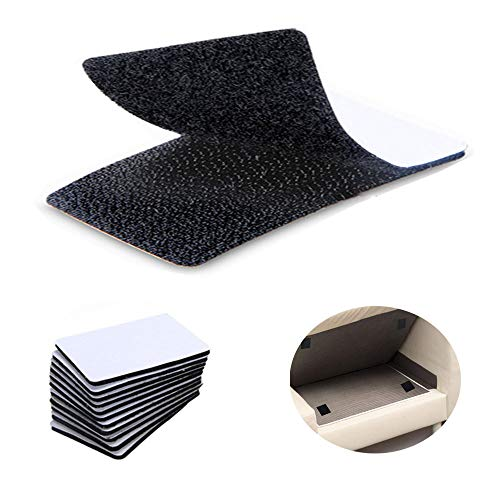 15Pcs Hook Loop Tape, 4 x 6 inch Self Adhesive Non Slip Couch Hook Loop Tape, Double-Side Sticky Fastener Cushion Gripper for Keeping Couch Cushions from Sliding