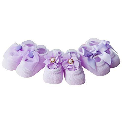 dragonaur-home decor Baby Mädchen (0-24 Monate) Socken violett violett Größe S