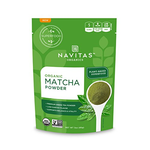 Navitas Organics Matcha Powder, 3oz. Pouch — Premium Culinary Grade, Organic, Non-GMO, Gluten-Free