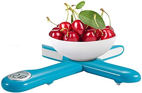 Camry bilancia Digitale pieghevole da cucina, bilancia elettronica multifunzionale Cucina, Mini, bilancia pesare il cibo, LCD Peso cucina, fino a 5 kg di peso, Auto-Off e Tara(Blu)