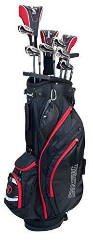 Spalding PAFSSPT1 - Juego de Palos de Golf para Hombre (Incluye Bolsa, Talla única), Color Rojo