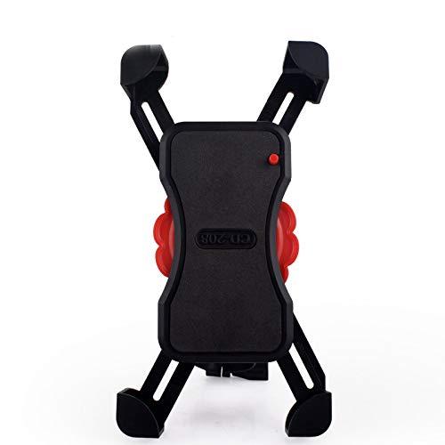 Soporte de teléfono para bicicleta, rotación de 360º, ajustable, para bicicleta, scooter, iPhone Xs (Xr, X, 8, 7, 6, Plus/Max), Samsung Galaxy o cualquier teléfono celular con capacidad para teléfonos de hasta 3,5 cm de ancho