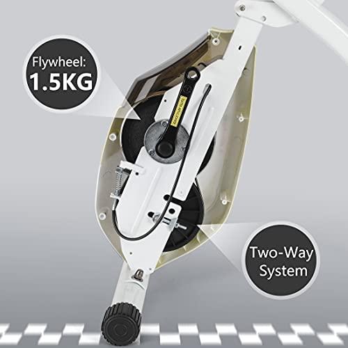Ultrasport Heimtrainer F-Bike 150/200B mit Handpuls-Sensoren, mit/ohne Rückenlehne, faltbar - 6