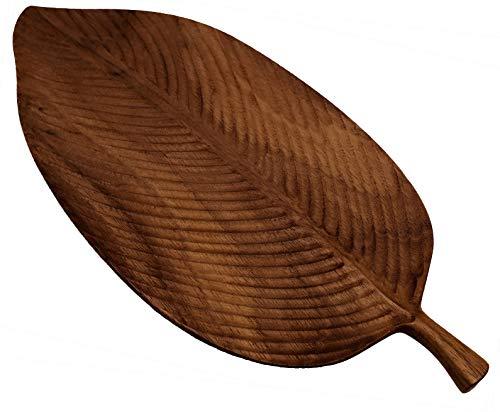 CherryTreeHouse, tagliere da portata in legno di noce 100% naturale, design a forma di foglia, ideale per una bella presentazione di sushi, formaggio, frutta, carne, pane, o come elegante espositore