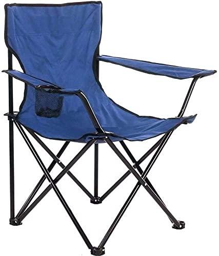 GREATS Silla Camping 50X50X80cm, Silla de Acampada Plegable Silla Jardin (1 Unidad, Azul Marino)