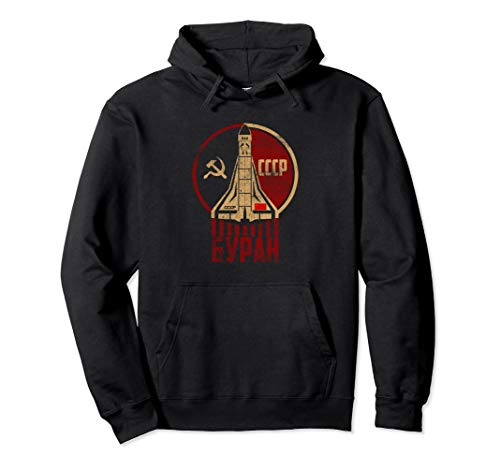 Vintage Soviet Russian USSR Space Retro Distressed CCCP Pullover Hoodie