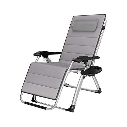 AYHa Zero Gravity Lehnstuhl Folding Lounge Chair Reclining Patio Chair Außen 250Kg Kapazität mit Becherhalter und 40 mm Durchmesser Stahlrohr, Lila,Grau