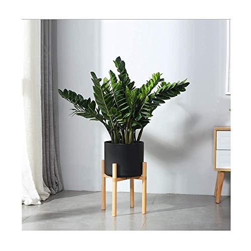 Almacenamiento creativo, soporte multifuncional para flores, oficina, soporte para flores nórdico, en el suelo, sencillo, moderno, ensamblaje de ventana de bahía, sala de estar de madera maciza, esta