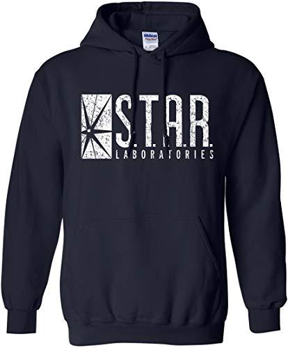 Star Labs Hoodie Star Laboratories Hooded Sweashirt Gift, Navy, Size XX-Large