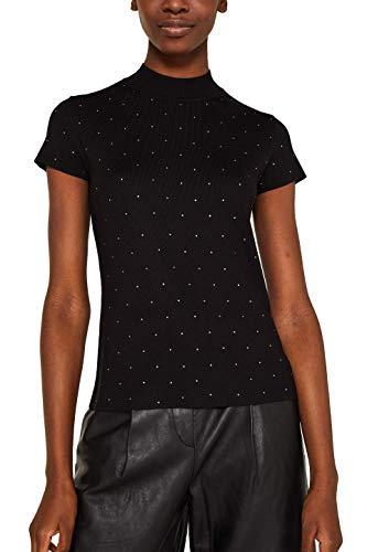 ESPRIT Collection Damen 129EO1I011 Pullover, Schwarz (Black 001), Small (Herstellergröße: S)