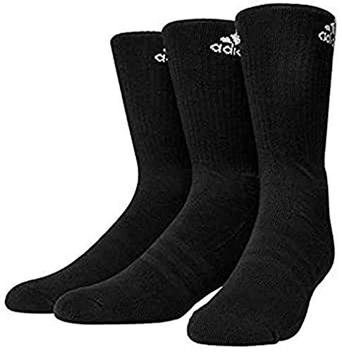 adidas Unisex 3S Performance Crew C Socken 3 Paar , Schwarz (Black/White) , 43-46