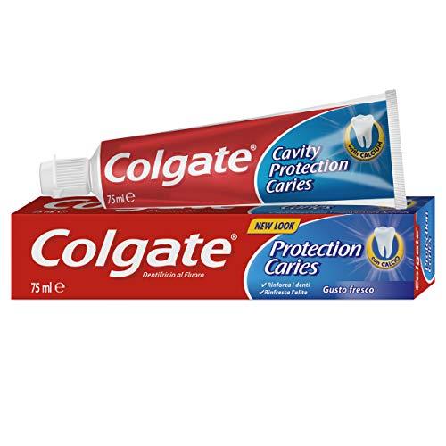 Colgate Protección Caries, Pasta de dientes, flúor activo y calcio líquido, sabor...