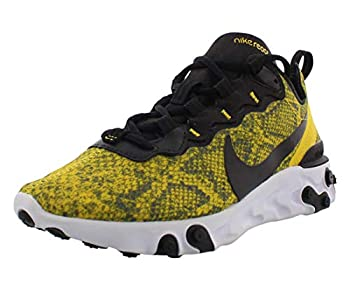 Nike W React Element 55 Yellow Snakeskin Womens Ct1551 700 - Size 5W