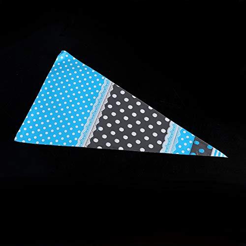 A sixx Bolsas de celofán Lindas Transparentes, Bolsas de golosinas, para Dulces para Galletas Postre panadería(Blue 4 Wire*17CM*30CM)