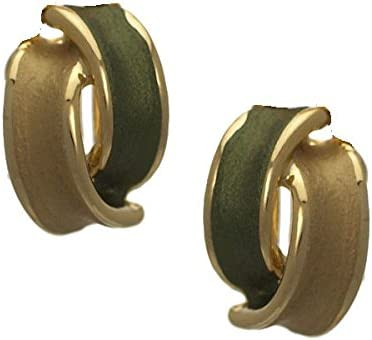 Seduction Gold Plated Green Clip On earrings by Rodney