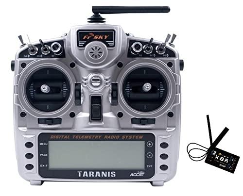 LMIAOM Frsky taranis X9D Plus 2019 Transmister 2. 4GHz Remote Controller con el receptor X8R for RC FPV Drone de carreras multirrotor Piezas de montaje de accesorios de bricolaje