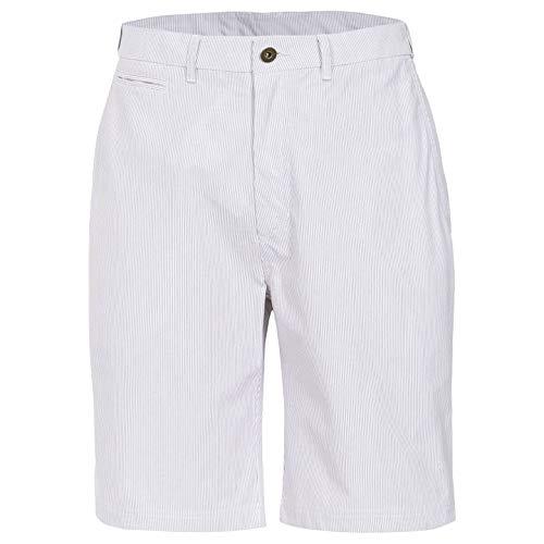Trespass Atom Shorts de Sport Homme Blanc rayé FR : 2XL (Taille Fabricant : XXL)