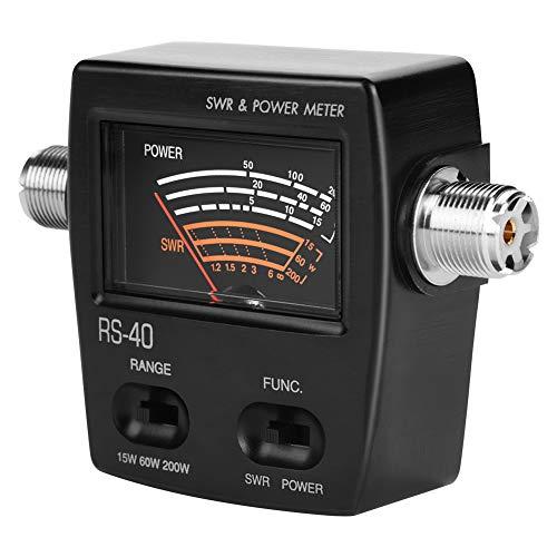 Medidor de potencia, lectura directa Medidor de potencia SWR profesional ligero, para radioaficionados, usuarios de radio de coche