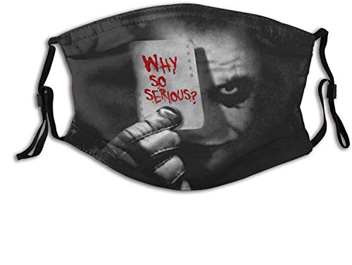 Face Cover Unisex Dust-Proof Washable Reusable with 2 Filters The Joker Why So Serious Pattern for Kids and Adults(Incude 2pcs Filters)-Pattern-14-OneSize