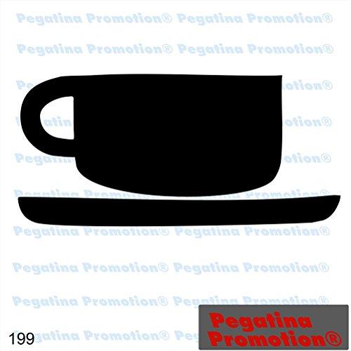 Piktogramm Typ 199 Icon Symbol Zeichen Tasse Cafe Kaffee Aufkleber Sticker ca.15cm von Pegatina Promotion® Aufkleber mit Verklebehilfe von Pegatina Promotion® ohne Hintergrund geplottet