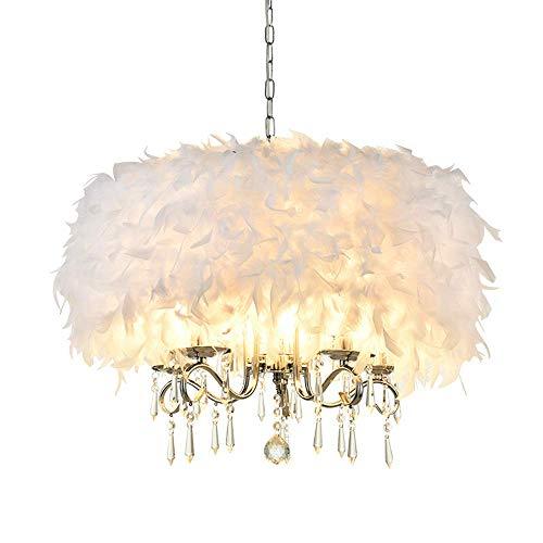 LKK-KK Pluma de la lámpara, Pluma de la Manera Moderna araña de Cristal Hecho a Mano Pluma Pantallas de iluminación de la Sala Decoración