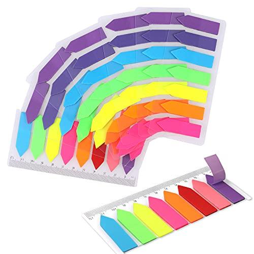 1160 Stück Haftnotizen Set - funvce 8 klebezettel Haftstreifen Haftmarker Klein Merkzettel Page Marker Tabs Beschreibbare Etiketten für Seitenmarkierung
