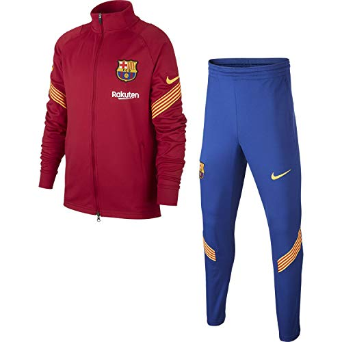NIKE FC Barcelona Temporada 2020/21-FCB Y NK Dry STRKE TRK Suit KCD6031-621 Chándal, Niño, Noble Red/Noble Red/Amarillo/Amarillo, L