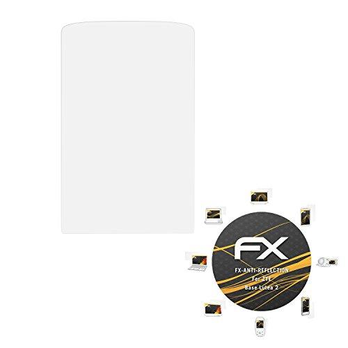 atFoliX Bildschirmschutzfolie für ZTE Base Lutea 2 (3 Stück) - FX-Antireflex: Bildschirmschutz Folie antireflektierend! Höchste Qualität - Made in Germany!