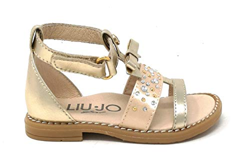 LIU-JO GIRL L1A2-20392-0509X089 Sandalo Bimba Pelle Platino (22 EU)