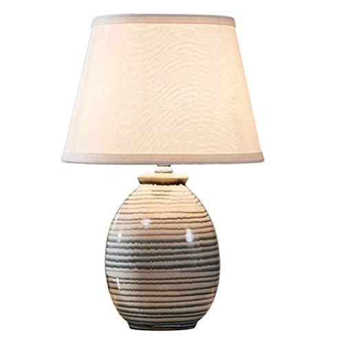Lámpara de escritorio, nuevo chino simple moderna del estilo de cerámica lámpara de mesa, boda creativo caliente dormitorio lámpara de cabecera pantalla de la tela de la lámpara de lectura de los ojos