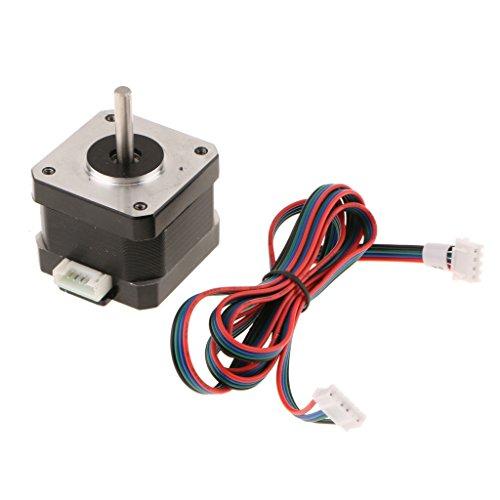 B Blesiya Motor Paso a Paso Nema 17 78 Oz-in 40 Mm 1.8A con Cables 4 Cables para Impresoras 3D
