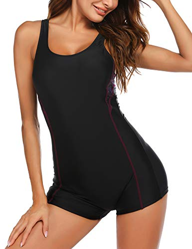 Ekouaer Women's One Piece Swimsuits for Women Athletic Surfing Swimsuits Bathing Suits