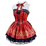 1818 Ichinose Shiki Cosplay Costume Lolita Dress Halloween Costumes for Women Anime Cloth Outfits and Wigs (Female L)