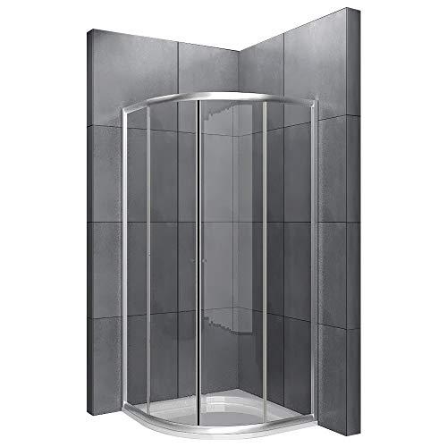 Cuadro madera de 90 x190cm ducha cabina de ducha antical revestimiento mampara de ducha con marco incluye juego de accesorios de puertas de cristal easyclea