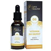 Vitamin D3 - Laborgeprüfte 5000 I.E (125 µg) pro Tropfen - 1850 Tropfen = 50 ML - Premium: Sehr hohe Stabilität & Bioverfügbarkeit - Hochdosiert - Vegetarisch - In MCT-Öl aus Kokos